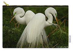 Preening Pair Carry-all Pouch by Myrna Bradshaw