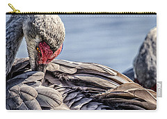 Preening Sandhill Crane Carry-all Pouch