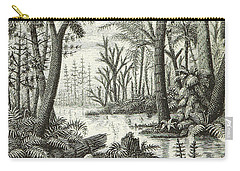 Prehistoric Flora, Carboniferous Carry-all Pouch by British Library
