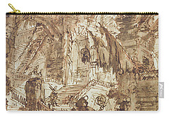 Preparatory Drawing For Plate Number Viii Of The Carceri Al'invenzione Series Carry-all Pouch by Giovanni Battista Piranesi