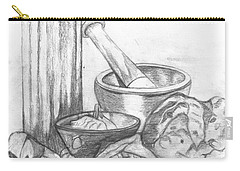 Carry-all Pouch featuring the drawing Preparing Starter Course by Teresa White