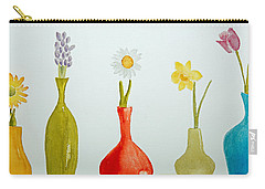 Pretty Flowers In A Row Carry-all Pouch