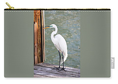 Pretty Great Egret Carry-all Pouch