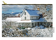 Pretty In White Carry-all Pouch by Kenny Francis