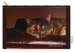Carry-all Pouch featuring the photograph Pretty Kitty by Oksana Semenchenko