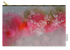 Carry-all Pouch featuring the photograph Pretty Little Snowflakes by Lauren Radke