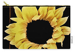 Pretty Macro Sunflower Carry-all Pouch