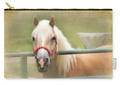 Pretty Palomino Horse Photography Carry-all Pouch by Eleanor Abramson