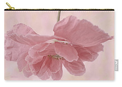Carry-all Pouch featuring the photograph Pretty Pink Poppy Macro by Sandra Foster