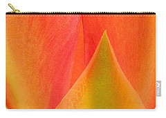 Carry-all Pouch featuring the photograph Prickly Pear Flower Petals Opuntia Lindheimeni In Texas by Dave Welling