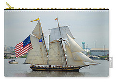 Pride Of Baltimore II Passing By Fort Mchenry Carry-all Pouch by Mark Dodd