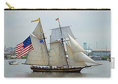 Pride Of Baltimore II Passing By Fort Mchenry Carry-all Pouch