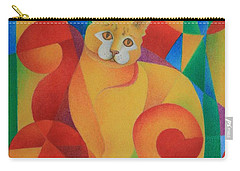 Primary Cat II Carry-all Pouch by Pamela Clements