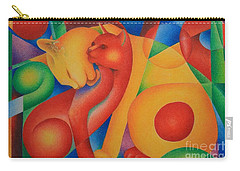 Primary Cats Carry-all Pouch by Pamela Clements