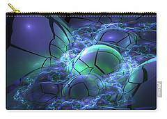 Carry-all Pouch featuring the digital art Primordial Soup  by Svetlana Nikolova