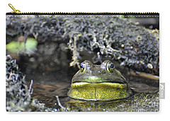 Carry-all Pouch featuring the photograph Bullfrog by Glenn Gordon