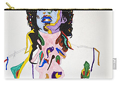 Carry-all Pouch featuring the painting Prince Purple Reign by Stormm Bradshaw
