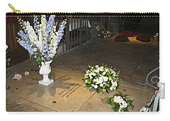 Carry-all Pouch featuring the photograph Princess Grace Tomb by Allen Sheffield