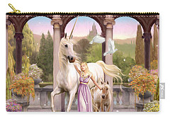 Princess Of The Unicorns Variant 1 Carry-all Pouch by Garry Walton