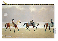 Princeteau's Riders On The Beach At Dieppe Carry-all Pouch