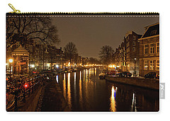 Prinsengracht Canal After Dark Carry-all Pouch by Jonah  Anderson