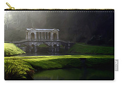 Carry-all Pouch featuring the digital art Prior Park Bath by Ron Harpham