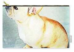 Profile In Frenchie Carry-all Pouch by Barbara Chichester