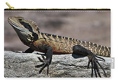 Carry-all Pouch featuring the photograph Profile Of A Waterdragon by Miroslava Jurcik