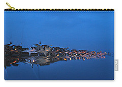 Promenade In Blue  Carry-all Pouch by Spikey Mouse Photography