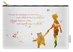Promise Me You'll Always Remember Carry-all Pouch by Rebecca Jenkins