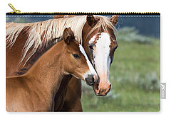 Carry-all Pouch featuring the photograph Proud Mommy by Michael Chatt