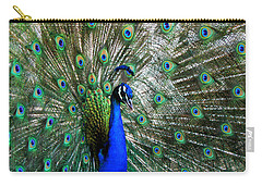 Proud Peacock Carry-all Pouch by Laurel Powell