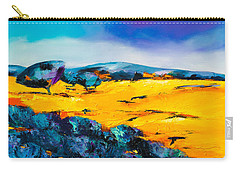 Carry-all Pouch featuring the painting Provence Colors by Elise Palmigiani