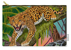 Prowling Leopard Carry-all Pouch by Glenn Holbrook