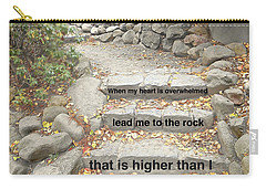 Carry-all Pouch featuring the photograph Psalm 61 2 by Joan Reese