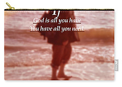 Carry-all Pouch featuring the photograph Psalm  John 14 8 by Joan Reese
