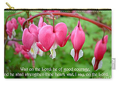 Psalms 27 14 Bleeding Hearts Carry-all Pouch