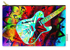 Psychedelic Guitar Carry-all Pouch