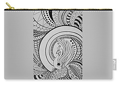 Psychedelic Peacock - Zentangle Drawing - Ai P.nilson Carry-all Pouch