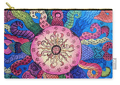 Carry-all Pouch featuring the painting Psychedelic Squid 2 by Megan Walsh