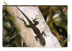 Puerto Rico Lizard Carry-all Pouch by Daniel Sheldon