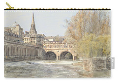 Pulteney Bridge Bath Carry-all Pouch by Ron Harpham