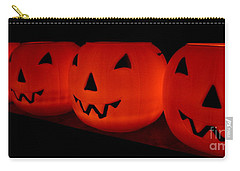 Pumpkins Lined Up Carry-all Pouch by Kerri Mortenson