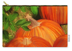 Carry-all Pouch featuring the painting Pumpkins Pumpkins Everywhere by Deborah Boyd