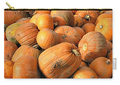 Carry-all Pouch featuring the digital art Pumpkins by Ron Harpham