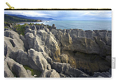 Carry-all Pouch featuring the photograph Punakaiki Pancake Rocks #2 by Stuart Litoff