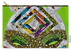 Carry-all Pouch featuring the tapestry - textile Punda Milia by Apanaki Temitayo M