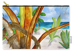 Punta Cana Beach Palm Carry-all Pouch by Carlin Blahnik