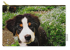 Puppy Art - Little Lily Carry-all Pouch by Jordan Blackstone