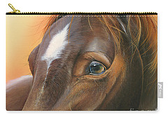Carry-all Pouch featuring the painting Pure Grace by Mike Brown